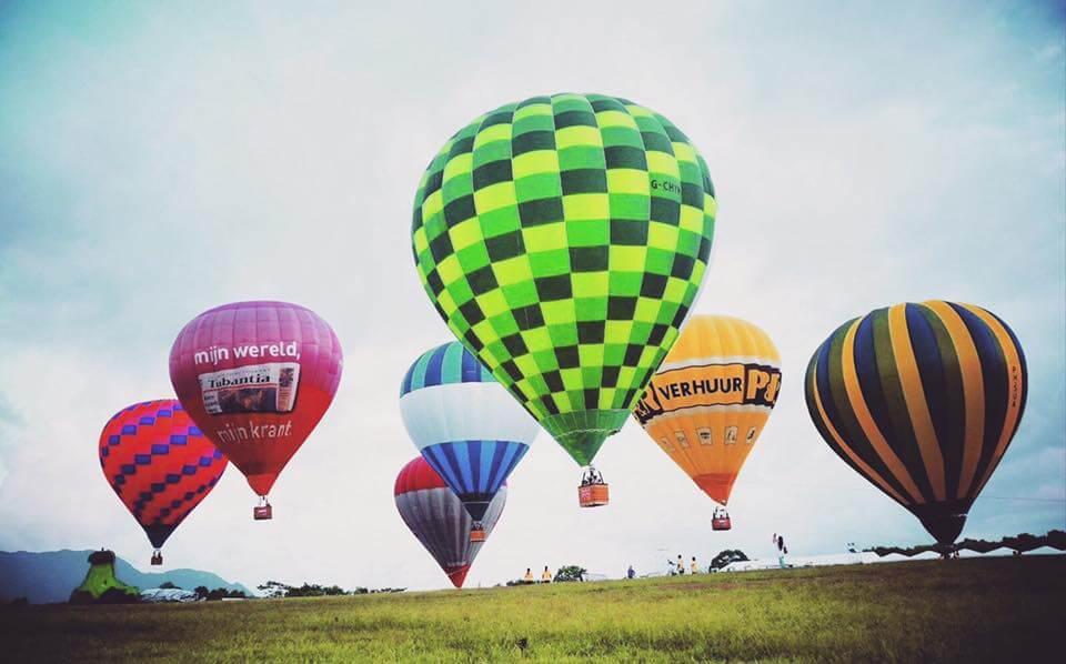 鹿野高台 気球